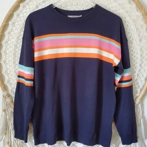 Asos Vintage Stripe Knit Pullover Sweater